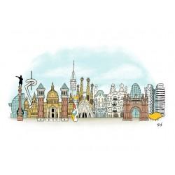 Skyline Barcelona - Spaint - Jaume Tenes